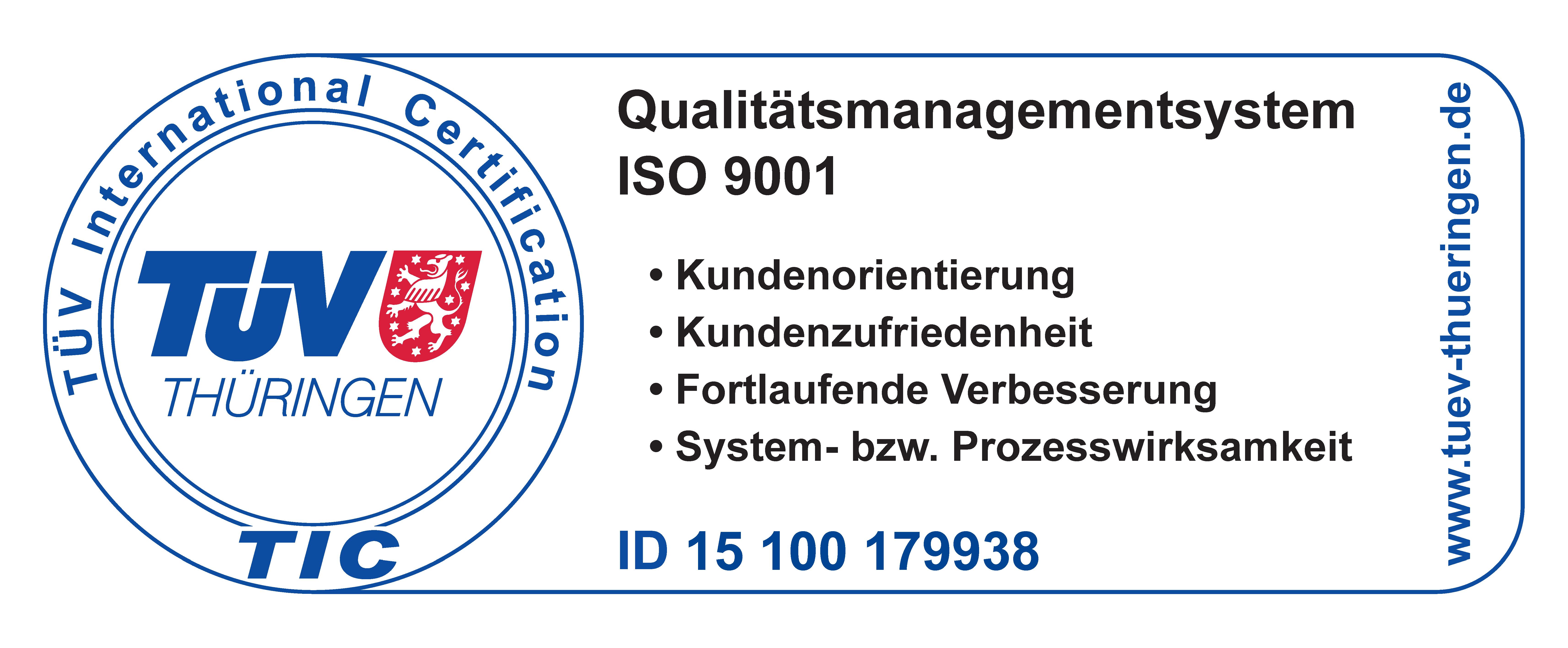 Zertifiziertes Unternehmen nach DIN EN ISO 9001:2008